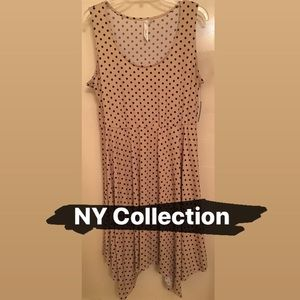 Polka Dot Dress - NY Collection- Large - NWT